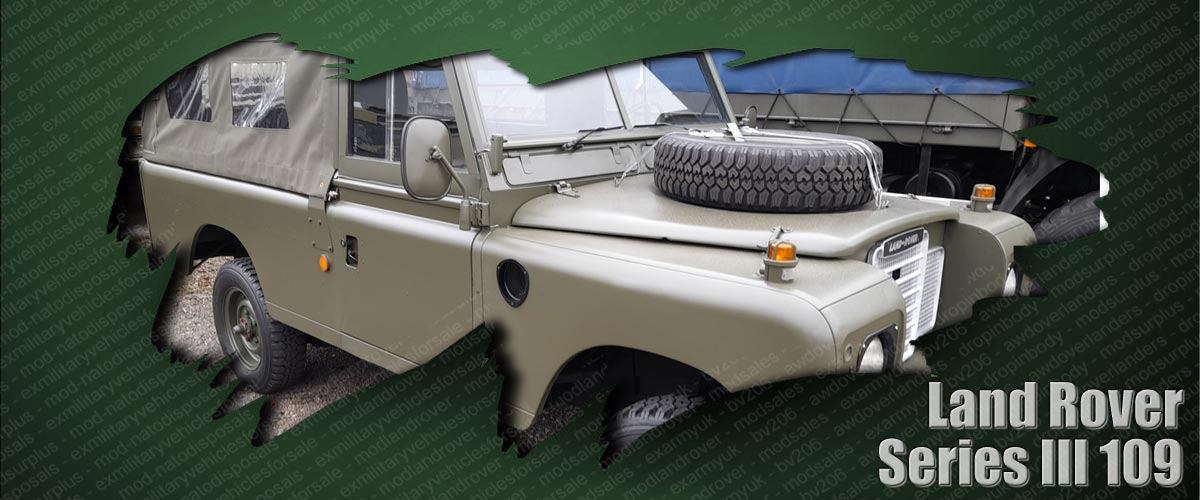 ex army mod land rovers and military vehicles for sale - Series III 109in